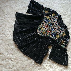 Zara Embroidery Crop top